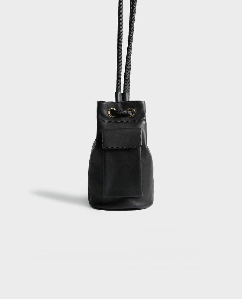 Kleiner Lederbeutel Black beauty Mende