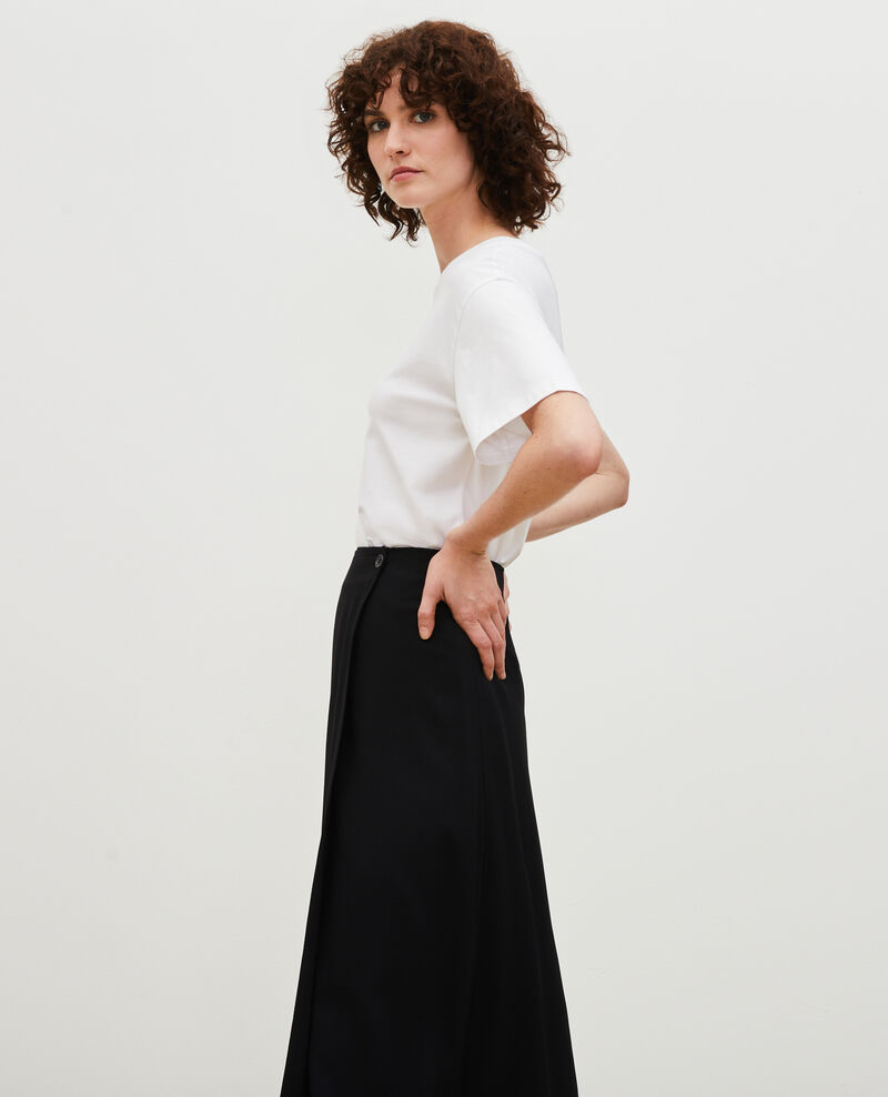 T-Shirt aus Baumwolle mit kurzen Ärmeln Treillis Mariette