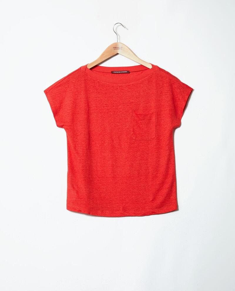 T-Shirt mit U-Boot-Ausschnitt Molten lava Jinolita
