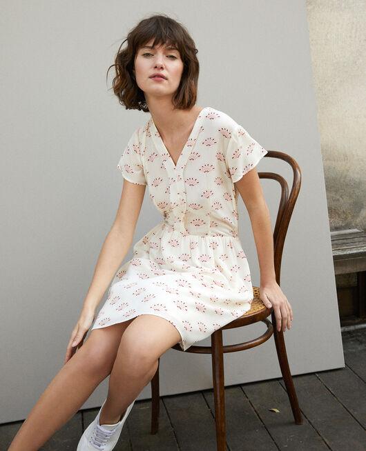 Kleid mit V-Ausschnitt LOTUS FAN WINTER WHITE