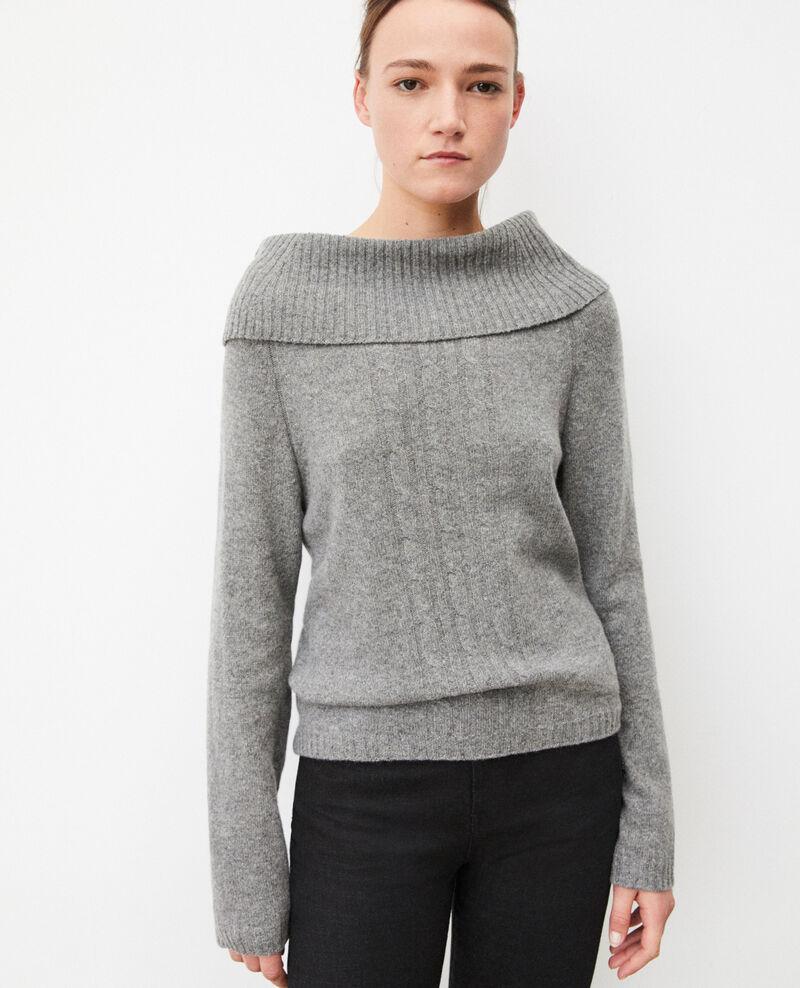 Pullover mit Zopfmuster Grau Girma