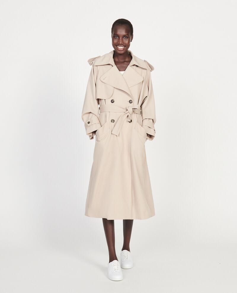 Trenchcoat aus Wolle Oxford tan Laiko
