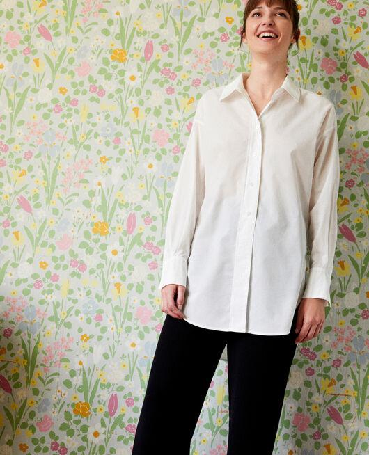 Lange Oversize-Bluse COCONUT MILK