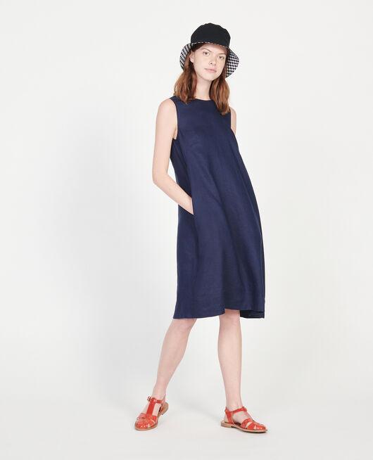 Kleid aus 100 % Leinen MARITIME BLUE