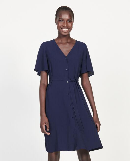 Fließendes Kleid MARITIME BLUE