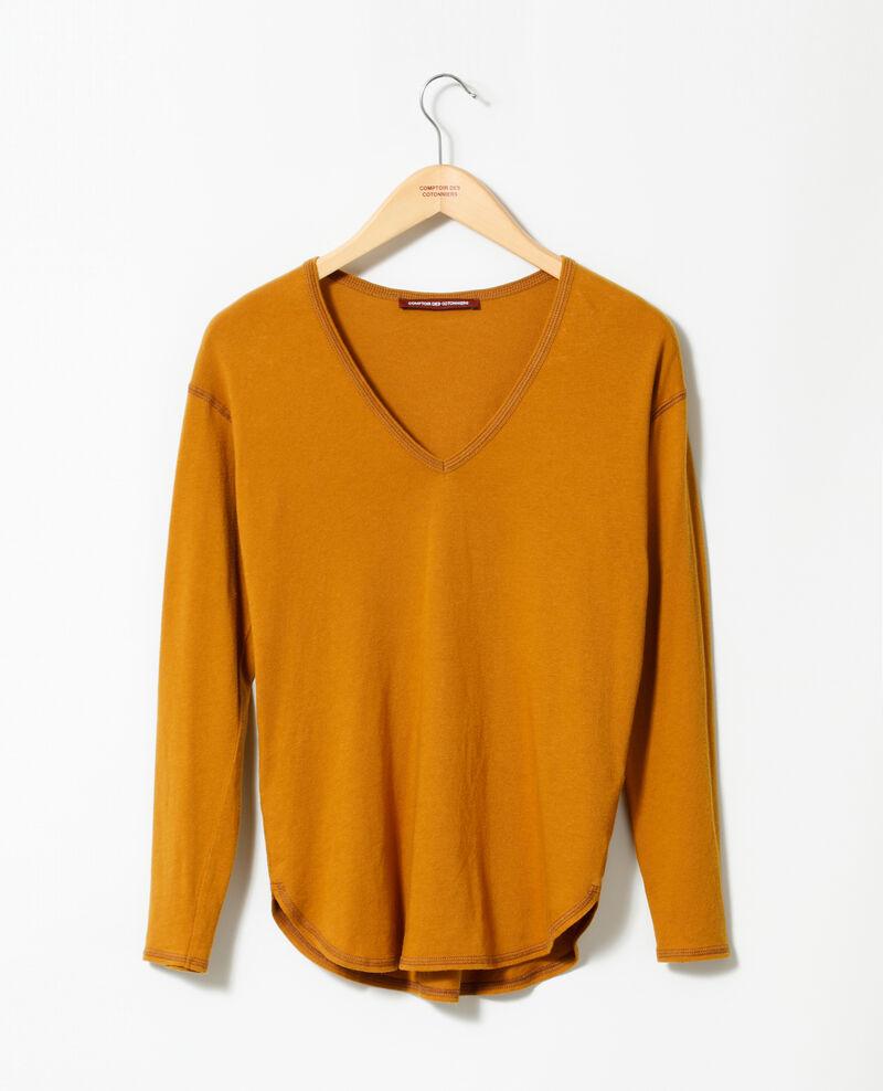 T-Shirt aus Baumwolle Gelb Gonia