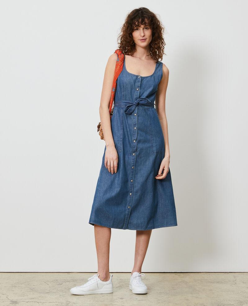Jeanskleid mit Trägern Denim blue Noisa