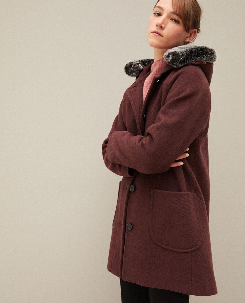 Mantel mit Kapuze Braun Gustin