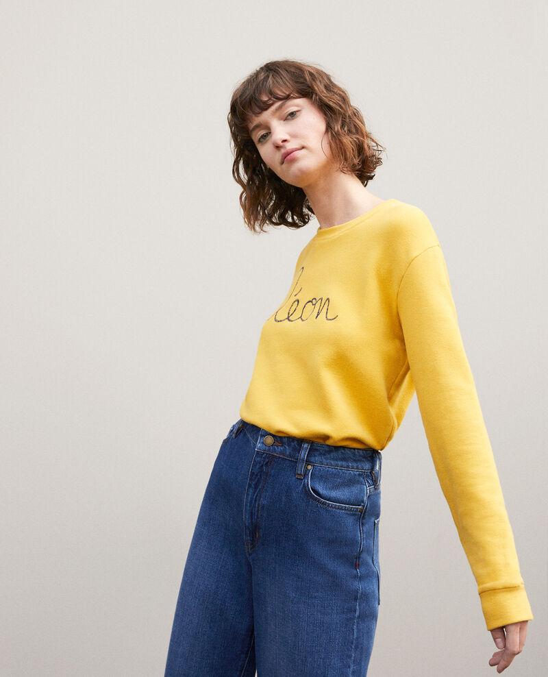 Sweatshirt mit Leon-Stickerei Golden spice/peacoat Gleon