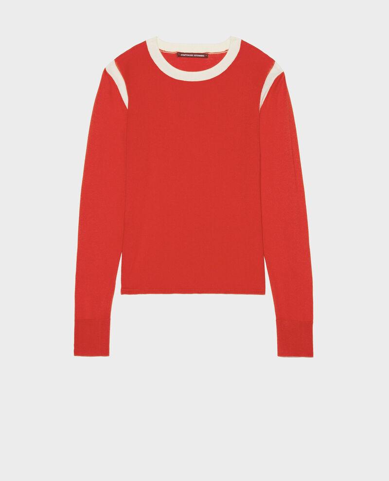 Pullover mit Seideund Kaschmir Fiery red buttercream Lovina