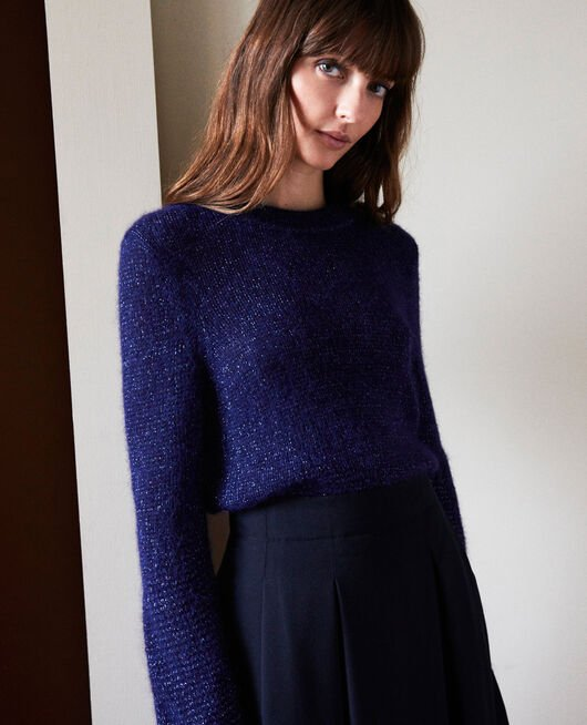 Pullover aus Zierstrick EVENING BLUE
