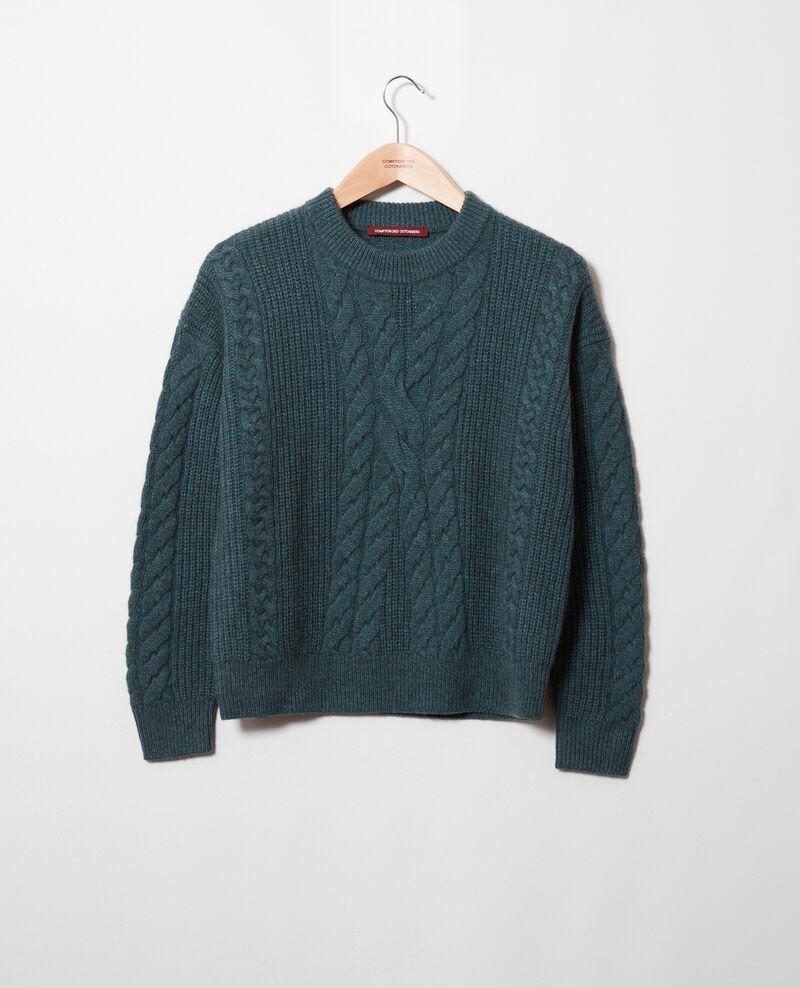 Pullover mit Zopfmuster Scarab Jop