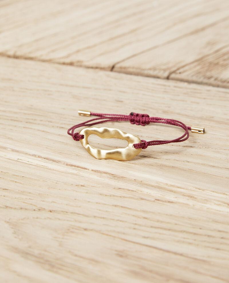 Armband aus Metall Gold/burgundy Iseala