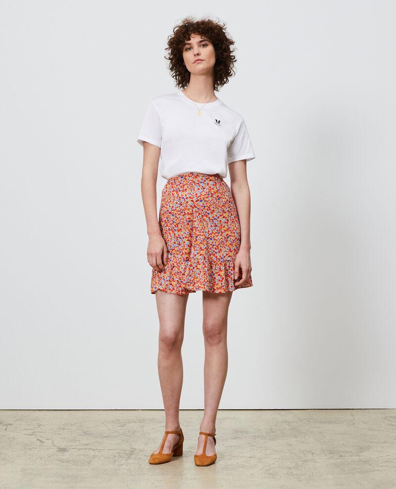 Besticktes T-Shirt aus Baumwolle Optical white Nagano
