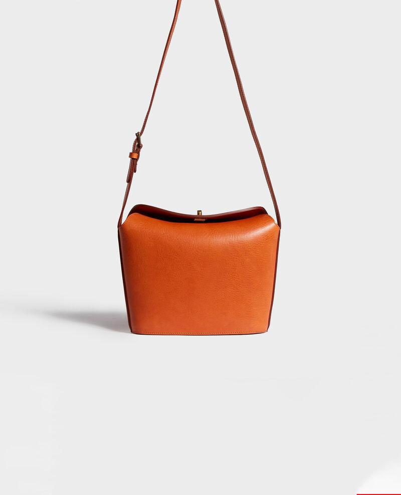 Lederhandtasche mit kurzem Schultergurt Camel Lidylle