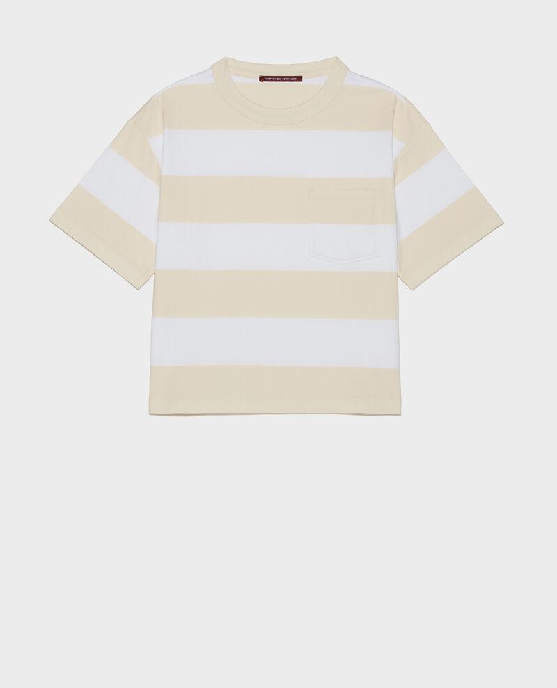 Gestreiftes Oversize T-Shirt Str opticalwhite butter Lord