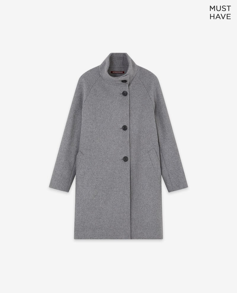 Mantel aus Wolle Medium heather grey Dyera