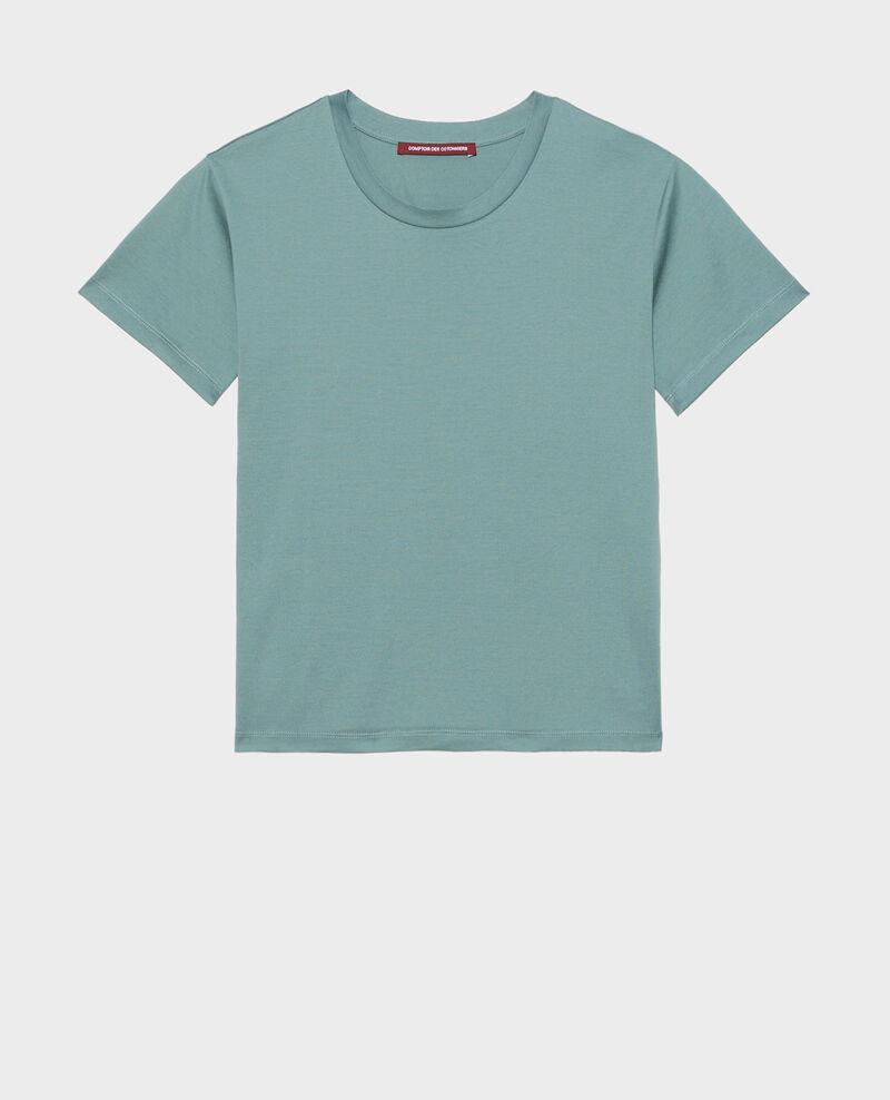 Kurzärmeliges T-Shirt aus Baumwolle Treillis Lirous