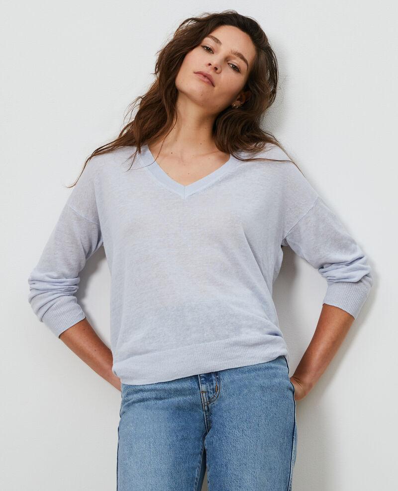 Pullover aus Leinen und Bio-Baumwolle Heather Leonotis