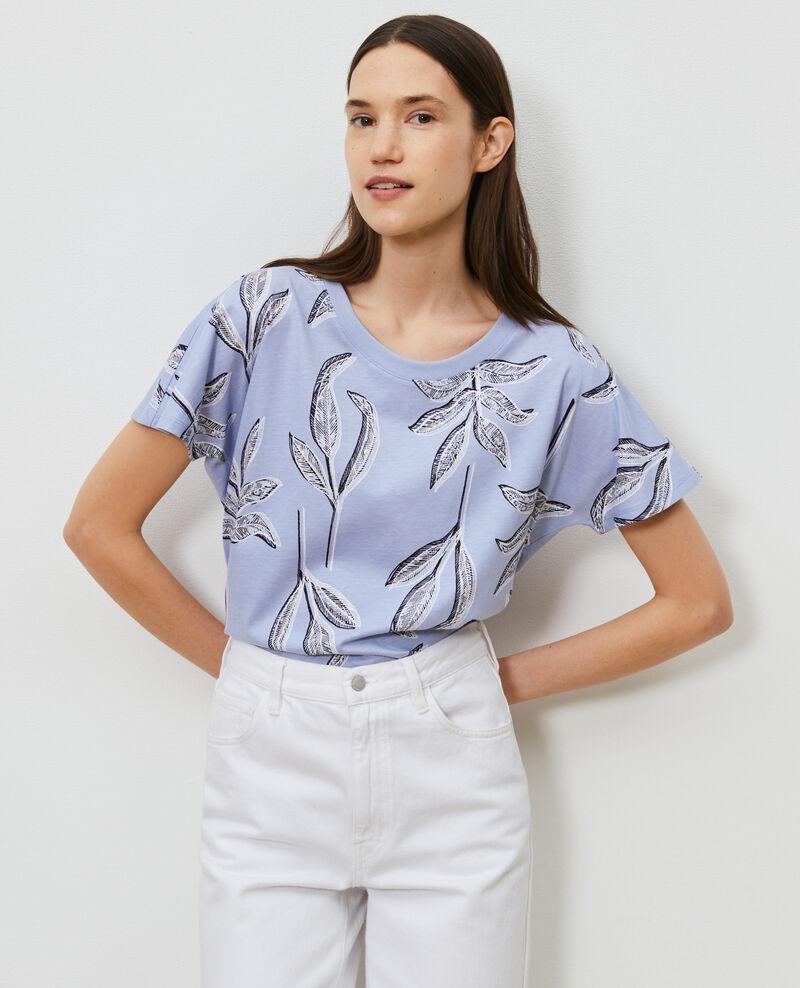 T-Shirt mit Rundhalsausschnitt aus Baumwolle Prt bot heron Nimeric