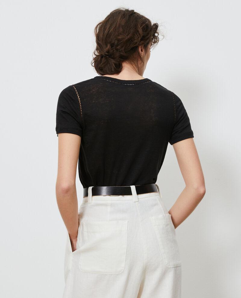T-Shirt aus Leinen Black beauty Lye