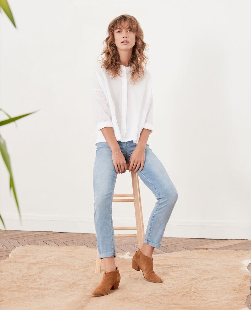 Weite Bluse Blanc Ferrier
