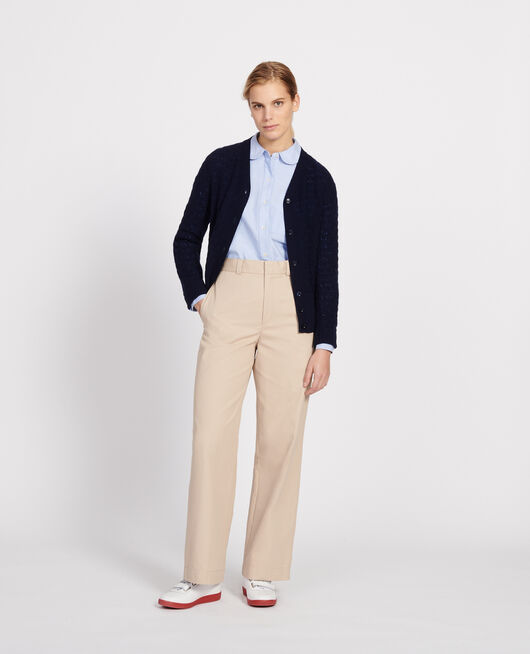 Cardigan mit V-Ausschnitt, 100 % Kaschmir  MARITIME BLUE