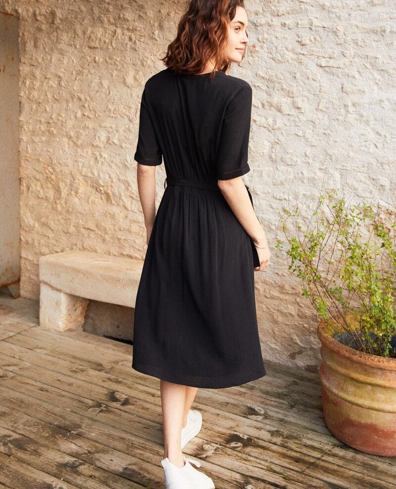 Kleid mit Stickereieinsätzen Noir Grigue