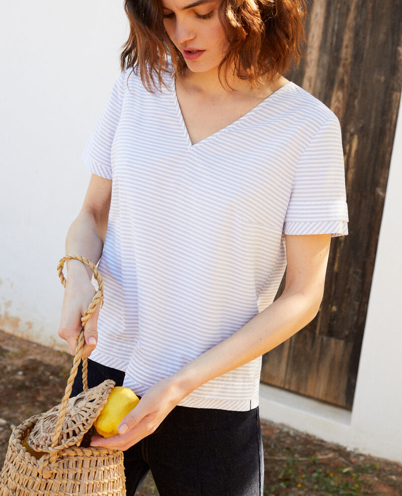 Gestreifte Bluse Blanc/indigo Ianane
