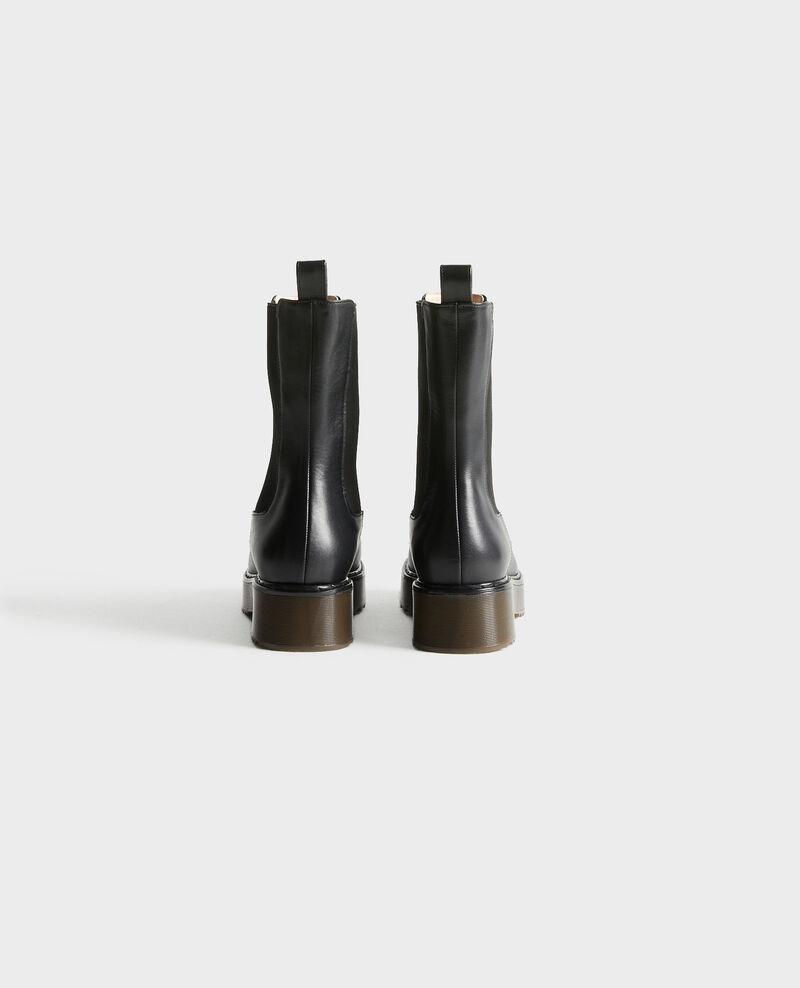 Boots aus Leder Black beauty Petite