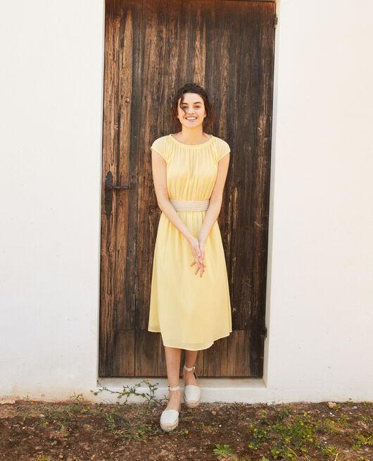 Halblanges Kleid SPICE YELLOW