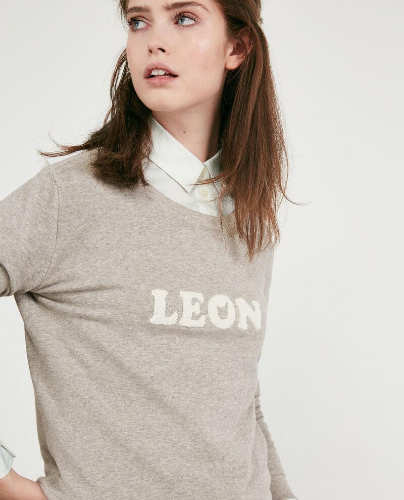 Sweatshirt mit Aufschrift Light heather grey Dhavirer