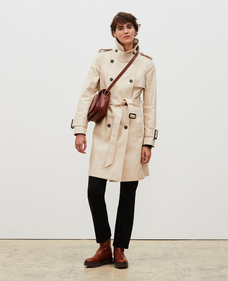 CATHERINE - Ikonischer Trenchcoat aus Baumwolle Smoke gray Lambert