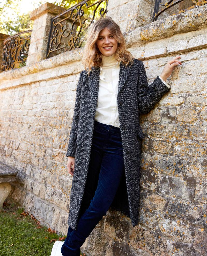 Tweed-Mantel Grey melange Judit