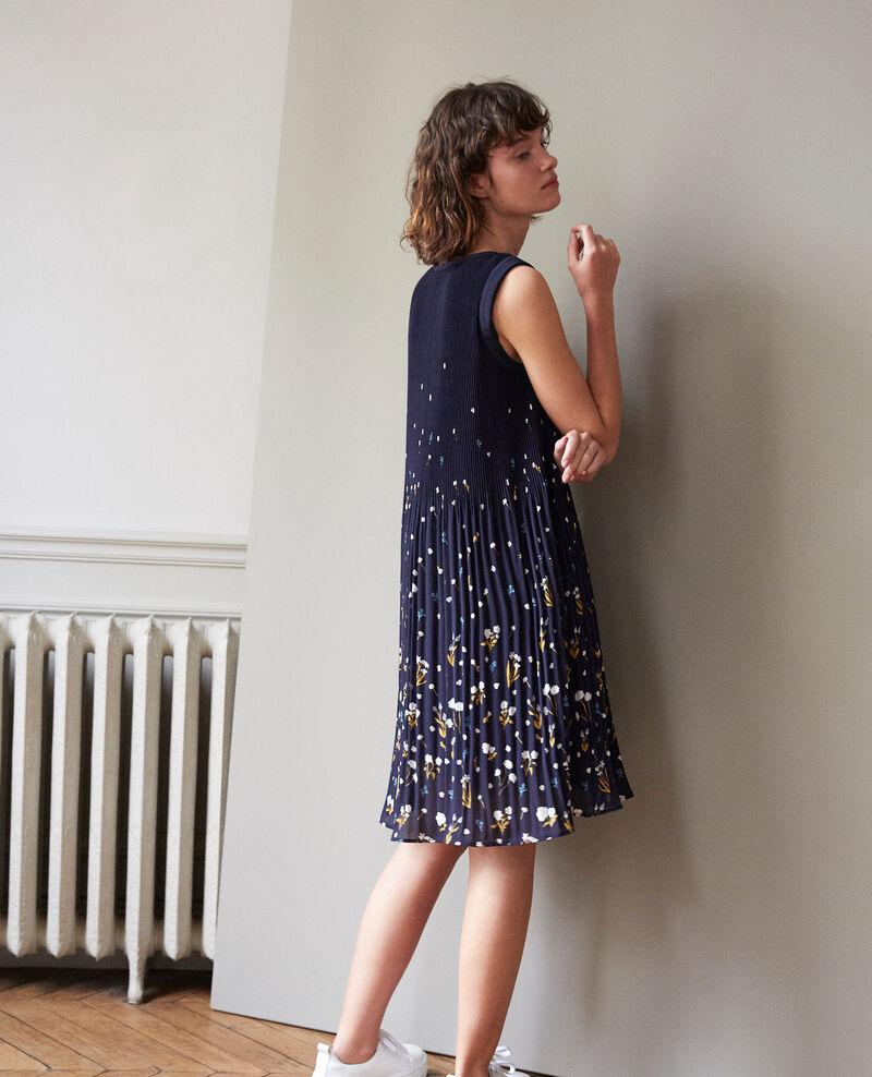 Plissée-Kleid Blau Garance