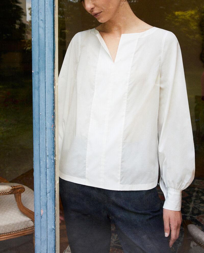 Bluse mit tunesischem Kragen Coconut milk Jaillou