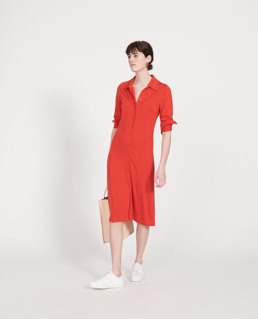 Seidenkleid FIERY RED