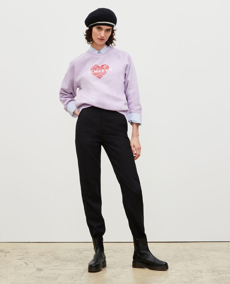 Sweatshirt aus Molton Pastel lilac Madeleina