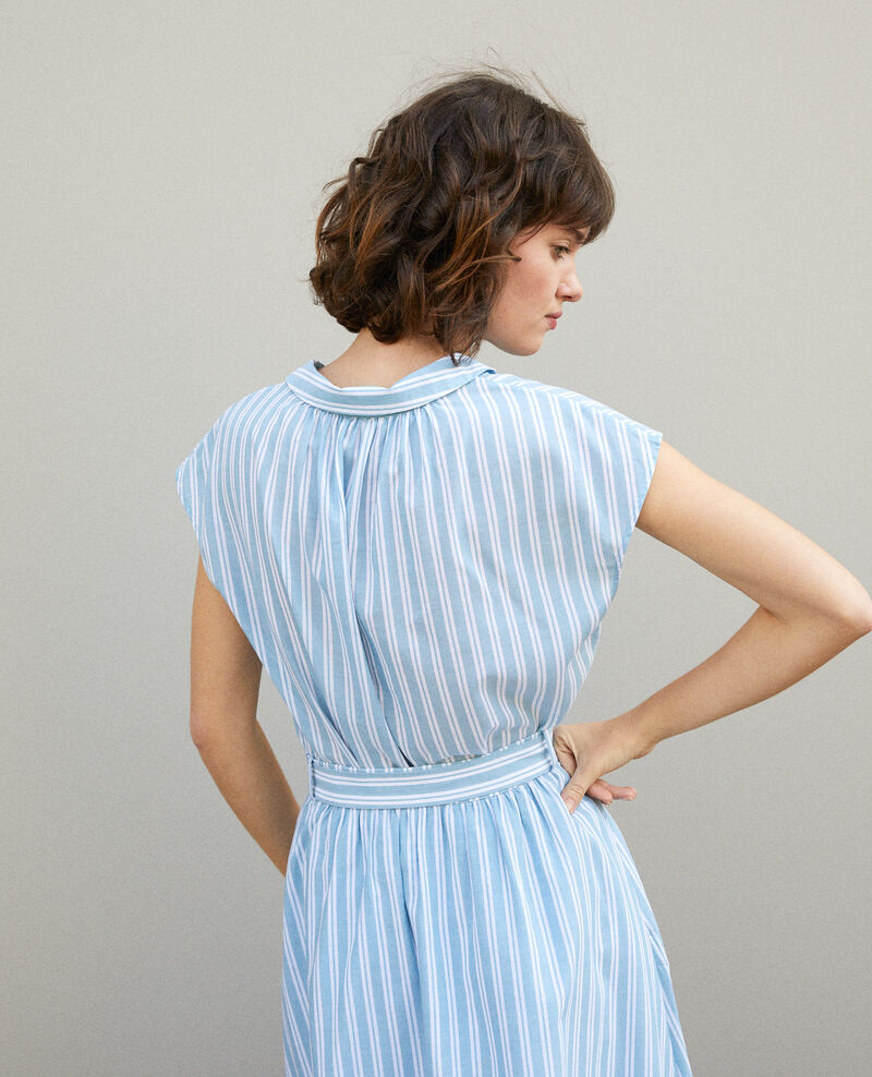 Bluse mit Rundhalsausschnitt Adriatic/off white stripes Garconne