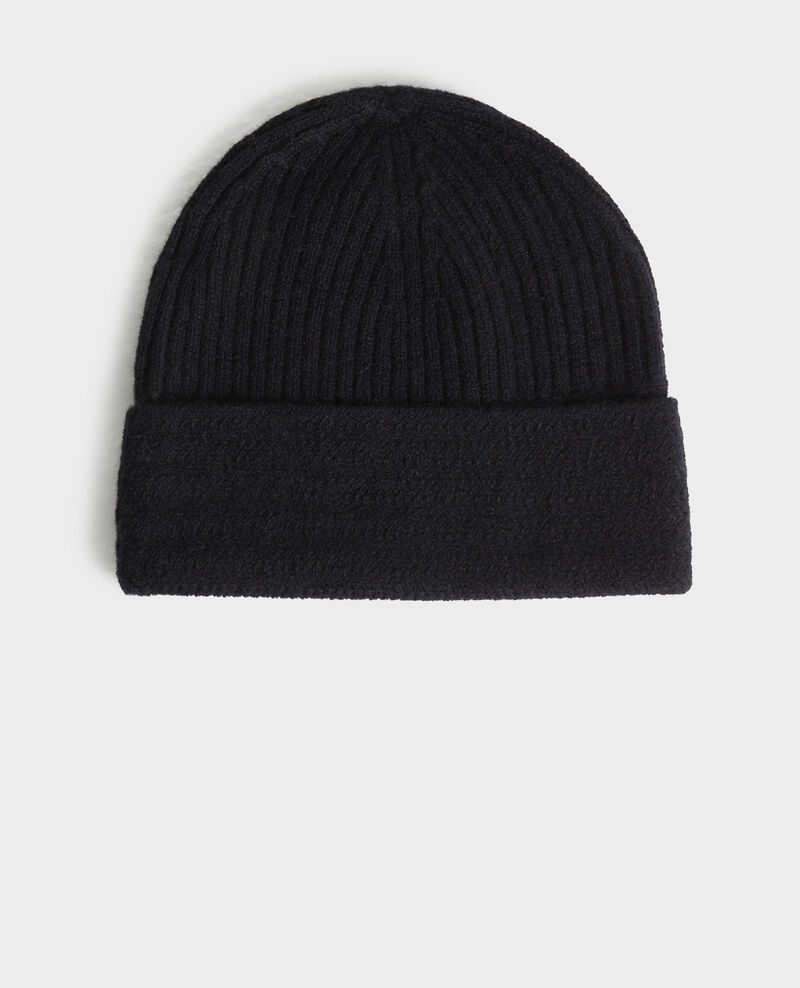 Mütze aus Kaschmir Black beauty Minzac