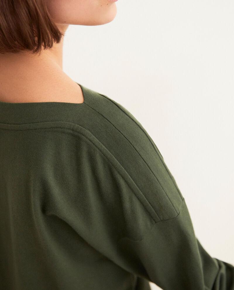 Sweatshirt mit U-Boot-Ausschnitt Cheng olive Inkaja