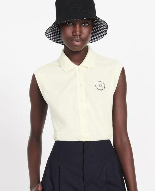 Polo-Shirt aus Piqué-Baumwolle TENDER YELLOW