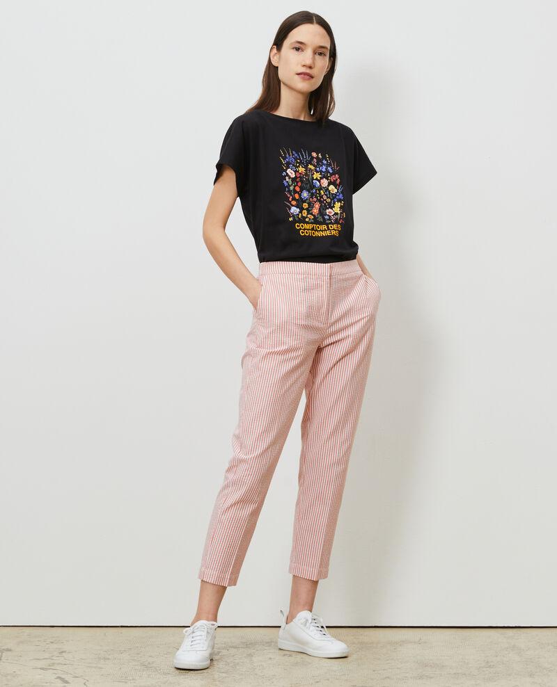 T-Shirt aus Baumwolle mit kurzen Ärmeln Black beauty Marcelin
