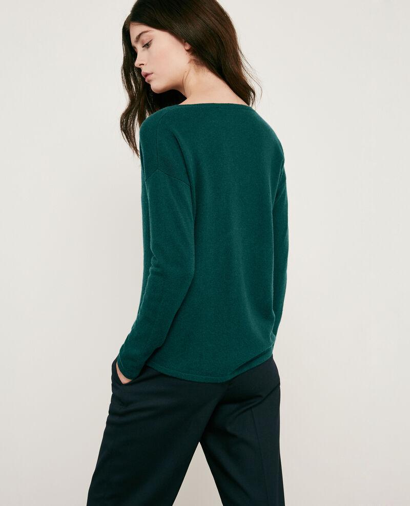 Reiner Kaschmir-Pullover Deep green Dudoux