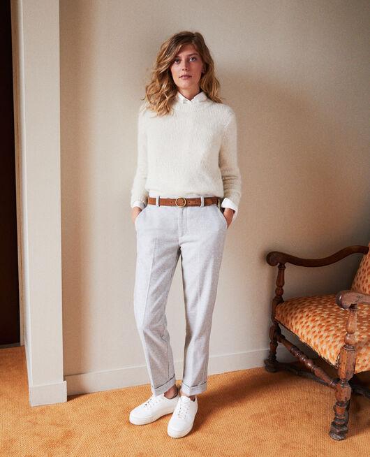 Pullover aus Zierstrick BUTTERCREAM