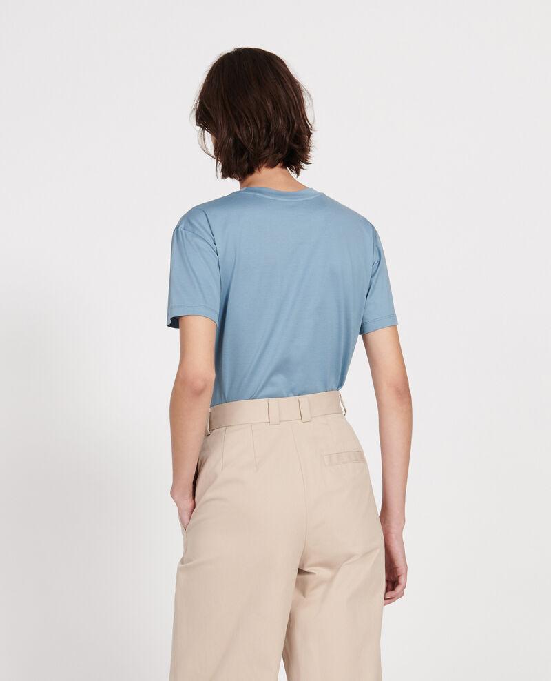 Klassisches T-Shirt aus ägyptischer Baumwolle Bluestone Lirous