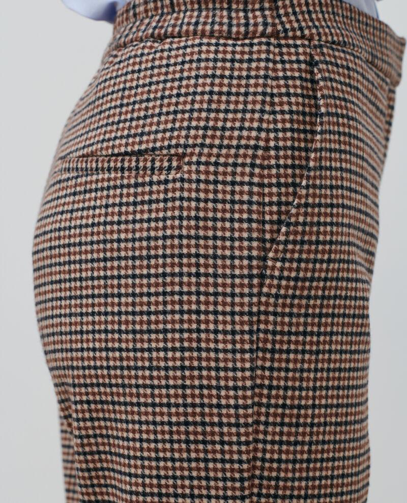 MARGUERITE, 7/8-Hose aus Wollmischung Check Popeille