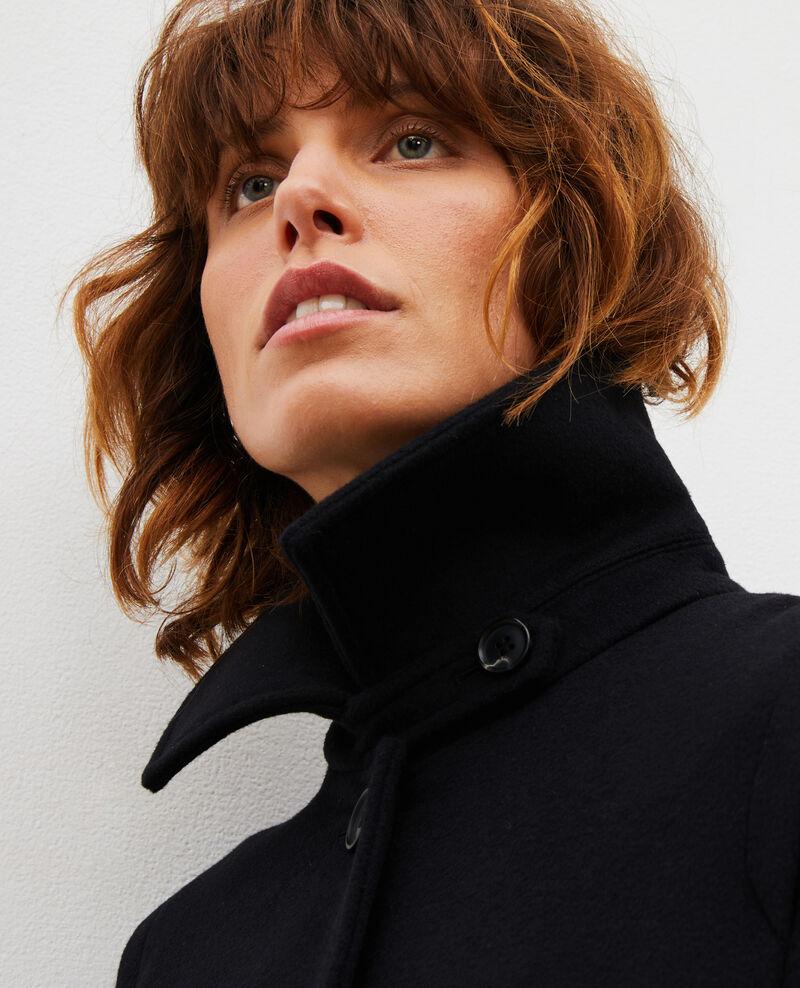 Ausgestellter Mantel aus Wolle und Kaschmir Black beauty Madriat