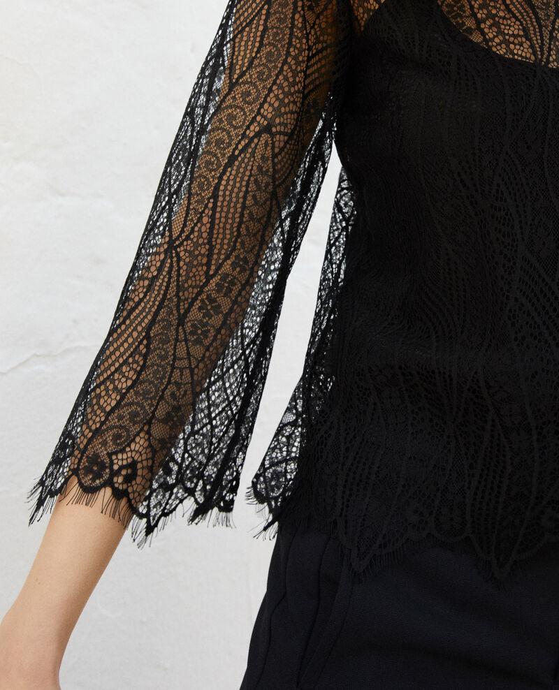 Bluse aus Spitze  Noir Ilanka