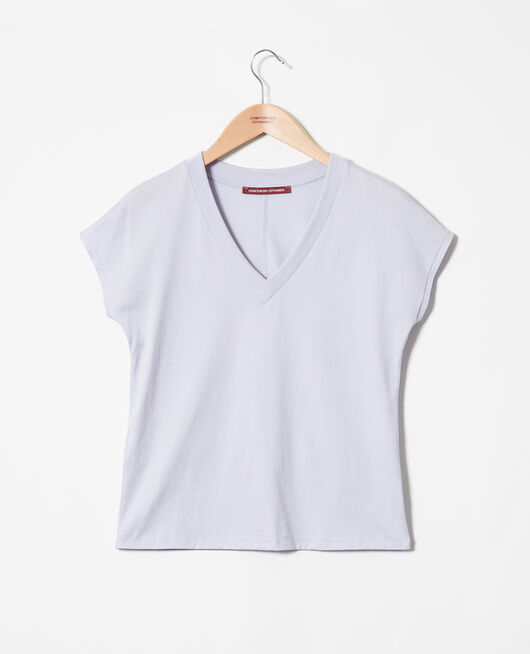 T-Shirt mit V-Ausschnitt PURPLE